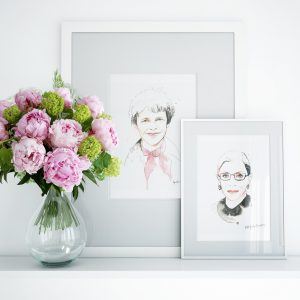 Frames with Kalika Yap's Little Brand Book Artwork of Amelia and Ruth