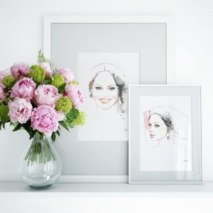 Kalika Yap's Little Brand Book Framed Artwork of Chrissy and Beyonce
