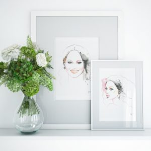 kalika yap's Little Brand Book Frame mockup of Chrissy and Beyonce