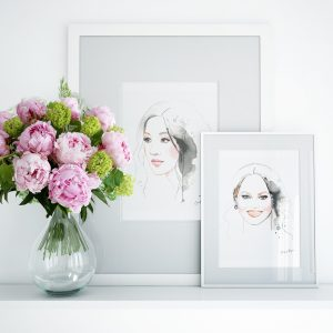 Constance and Chrissy Frames Artwork for Kalika Yap's Little Brand Book