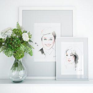 Frame mockup of Ellen and Constance by kalika yap's little brand book