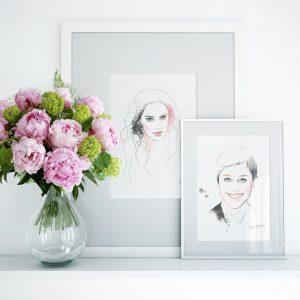 Frames for Kalika Yap's Little Brand Book Artwork of Gal Gadot and Ellen
