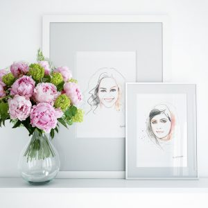 Michelle and Malala Frames with Artwork for Kalika Yap's Little Brand Book