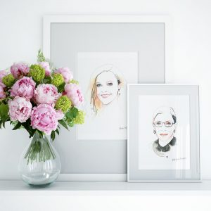 Reese and Ruth Little Brand Book Frames with Artwork