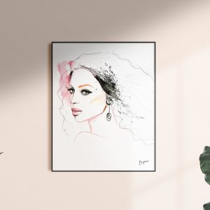 Frame with Beyonce artwork by kalika yap's Little Brand Book