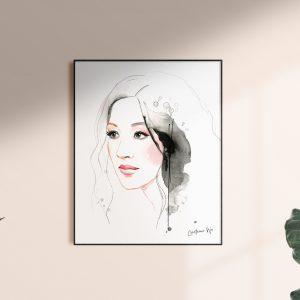 kalika yap's Little Brand Book Frame with Constance artwork