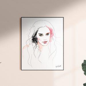 Frame of Gal by kalika yap's Little Brand Book artwork