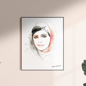 Frame with Malala artwork by kalika yap's Little Brand Book