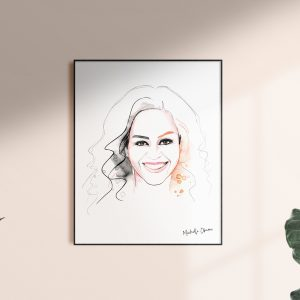 Framed Michelle artwork for kalika yap's Little Brand Book