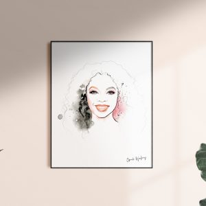 Frame with Oprah artwork for kalika yap's Little Brand Book