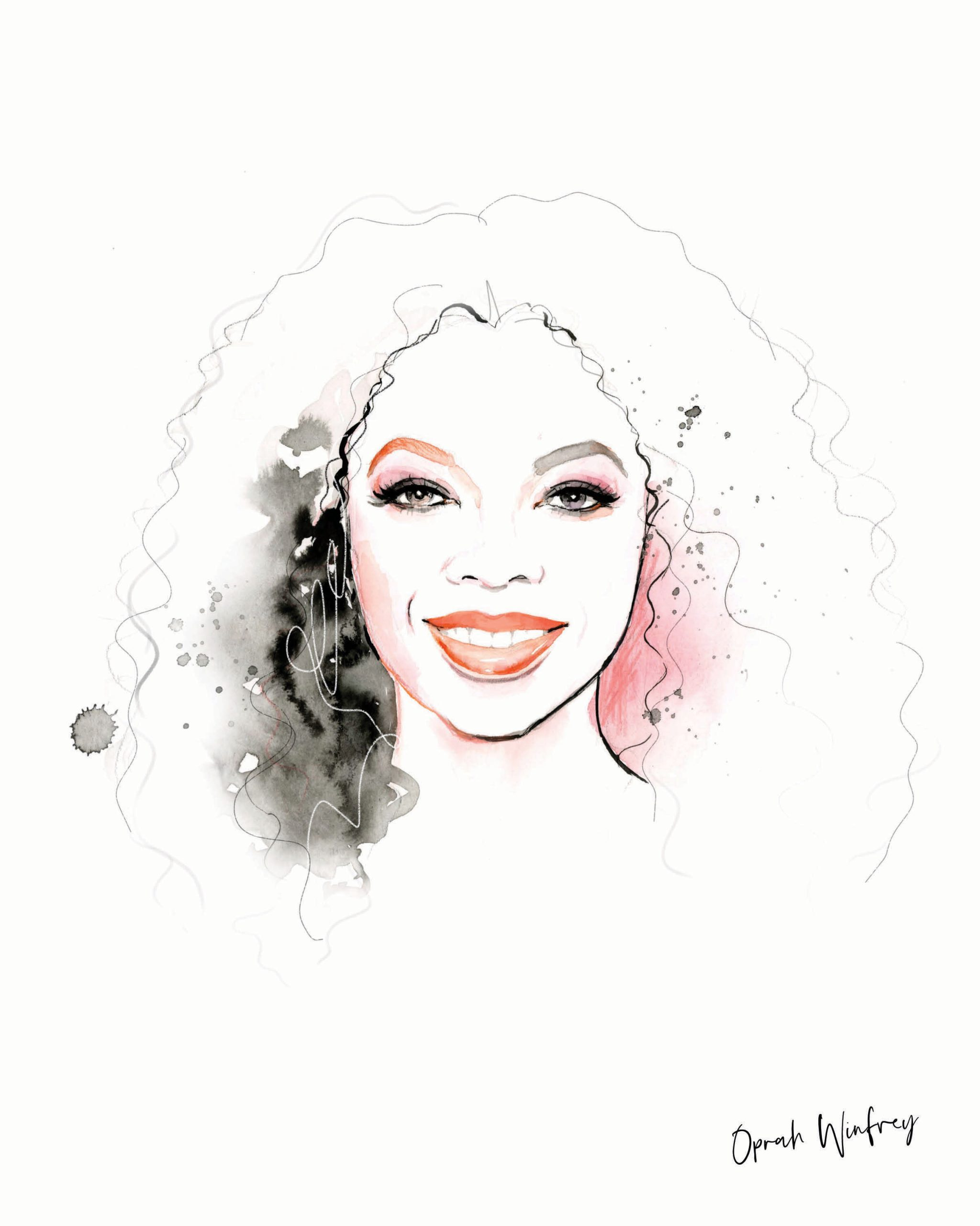 Oprah Artwork for kalika yap's Little Brand Book