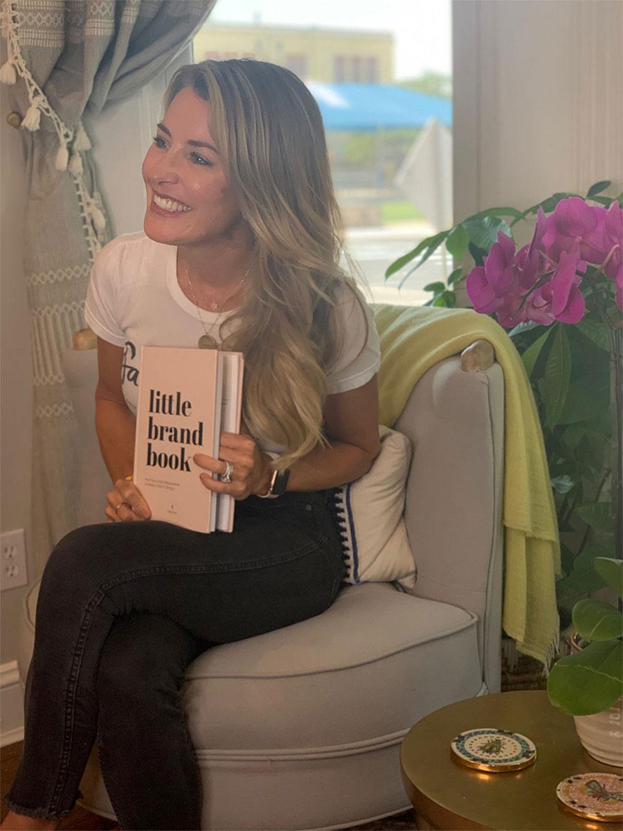 Smiling woman testimonial image for kalika yap's little brand book